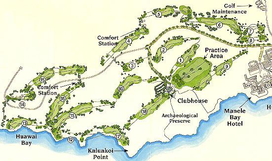 Lanai Golf Map