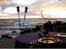 Maui Dinner on the Beach